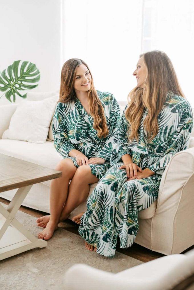 long bridesmaid robes