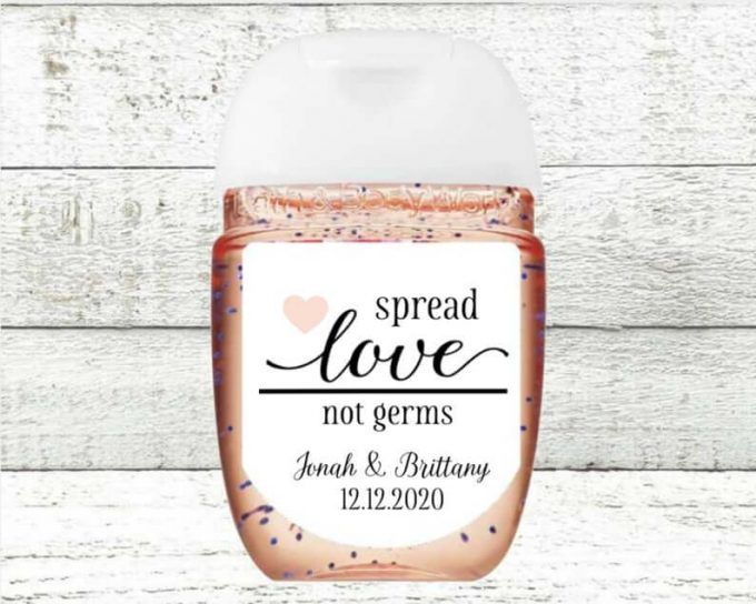hand sanitizer favors for weddings