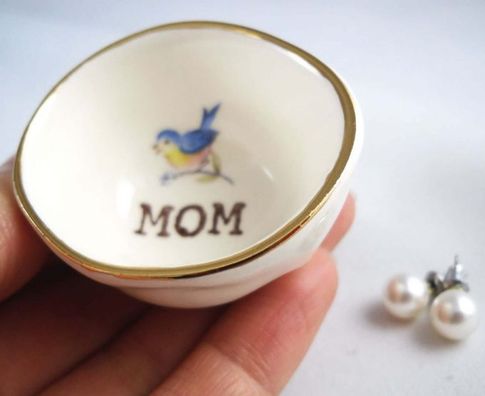 mother of the bride ring dish