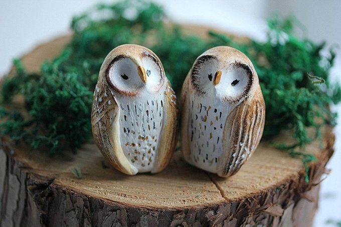 owl cake topper for wedding