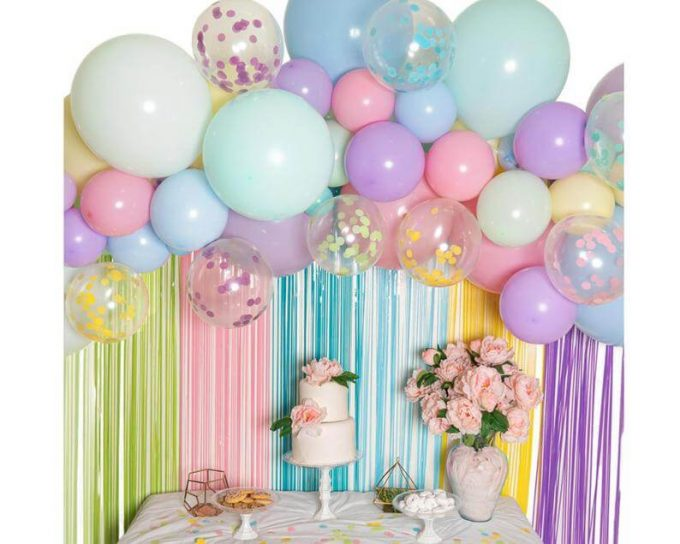 wedding balloon garland