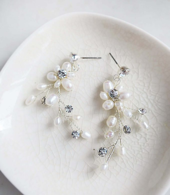 vine wedding earrings