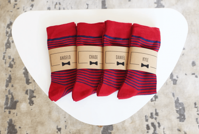socks for groomsmen