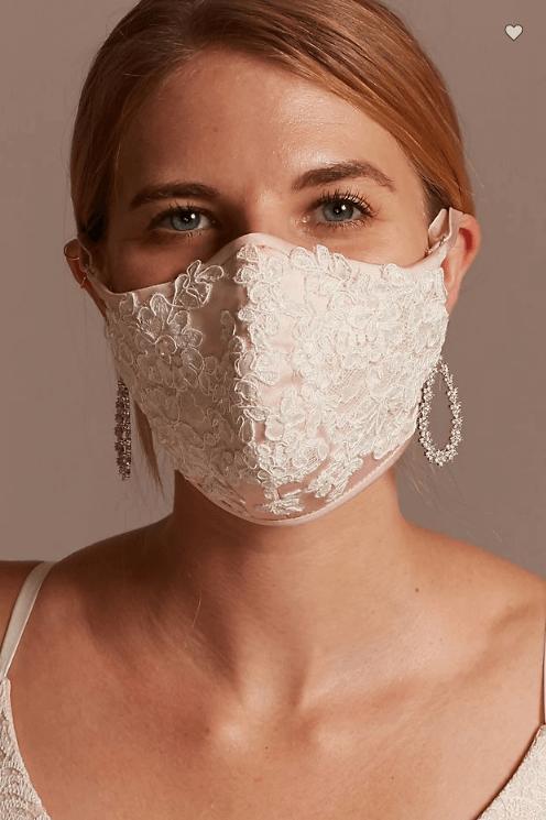 bride face mask covid wedding
