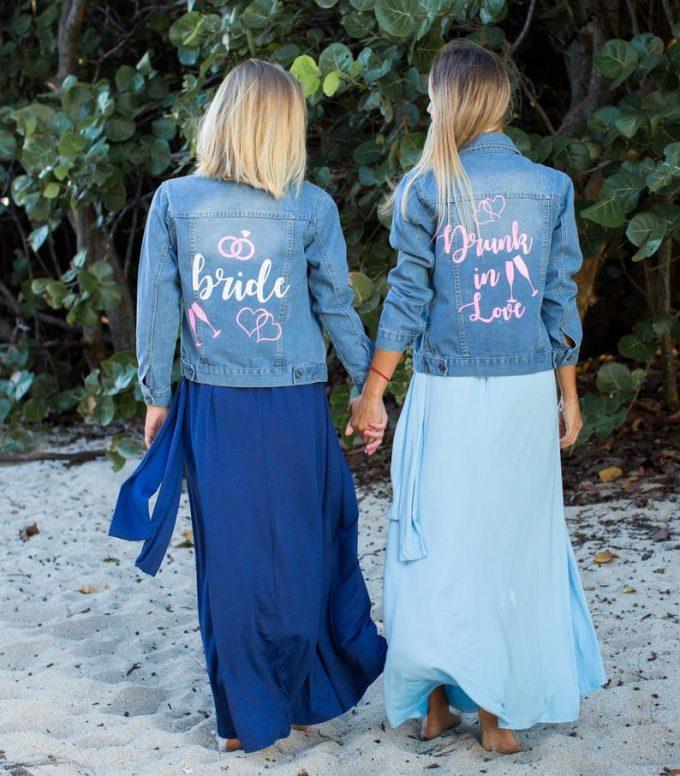 bridal jean jacket