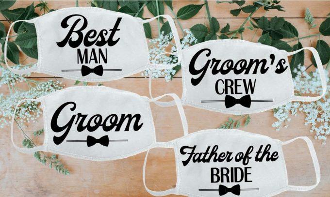 bridal party face masks