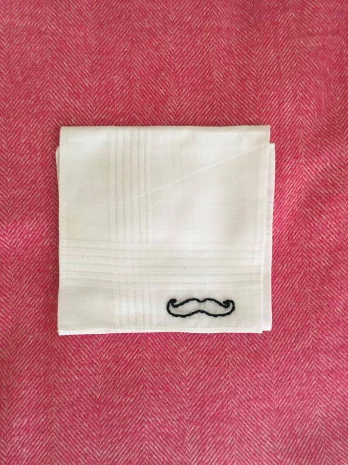 groomsmen mustache handkerchief
