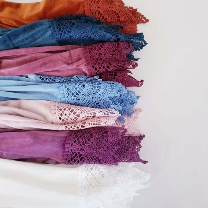 velvet bridesmaid robes