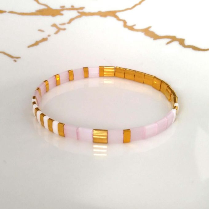 stackable tile bracelets
