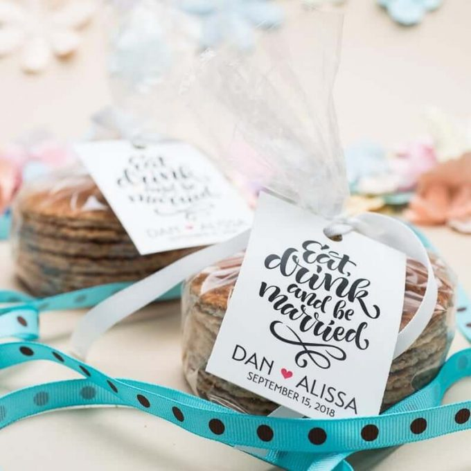 stroopwafel wedding favors