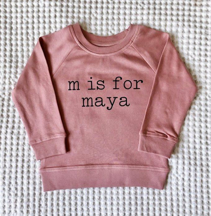baby name sweatshirts