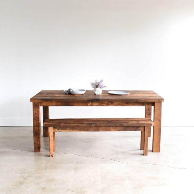 handmade farmhouse table