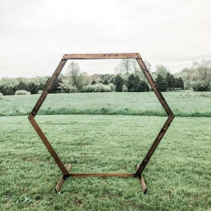 hexagon wedding arch