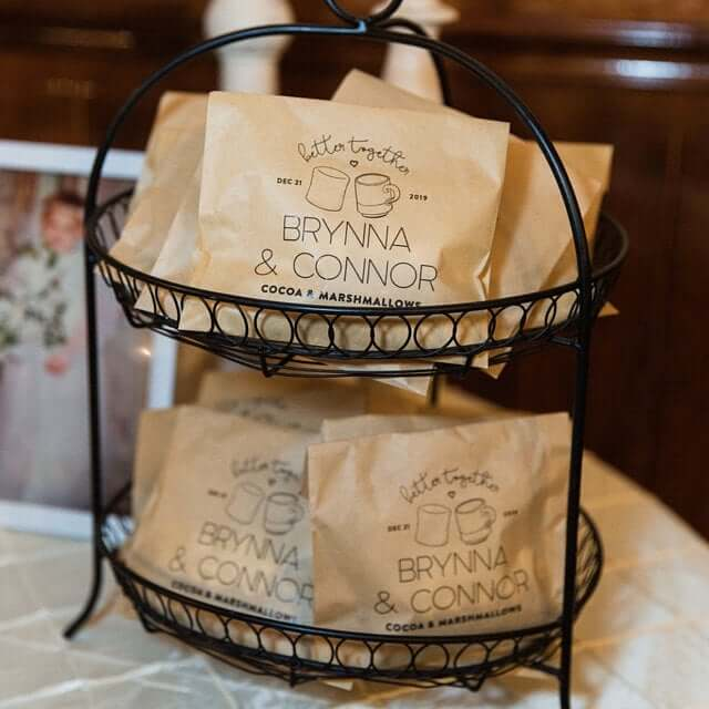 display favors at weddings