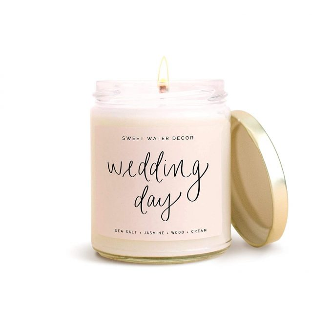wedding candle bride