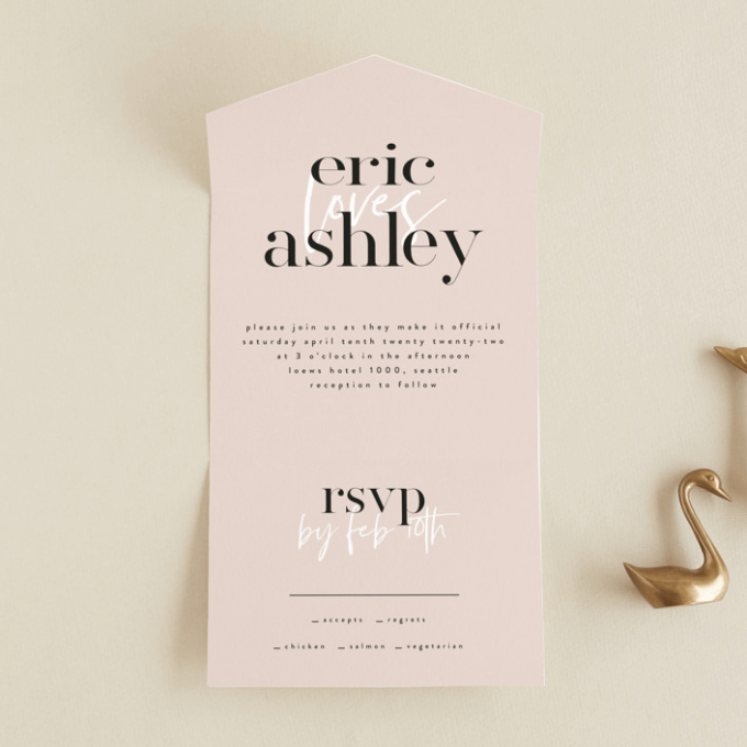 wedding invitations with rsvp included