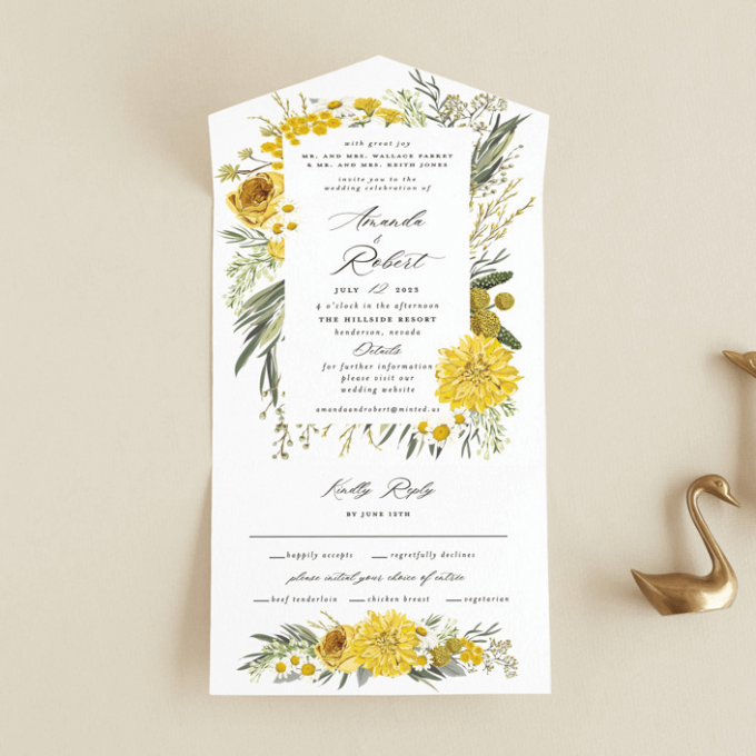 invitations with rsvp included
