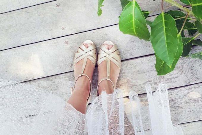 Champagne Bridal Sandals