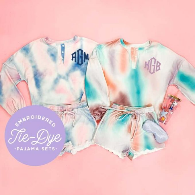Tie Dye Pajamas for Bridesmaids