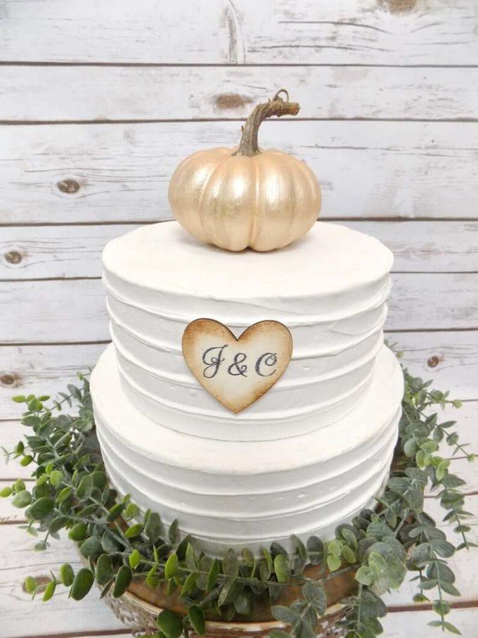 pumpkin cake topper wedding