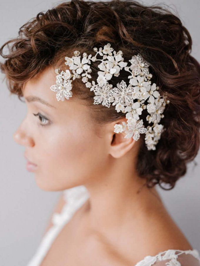 ivory bridal headpiece
