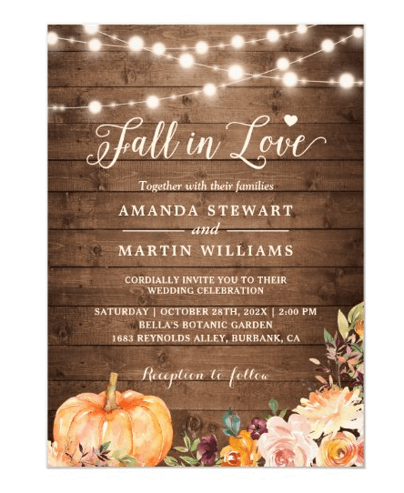 Pumpkin Themed Wedding Ideas
