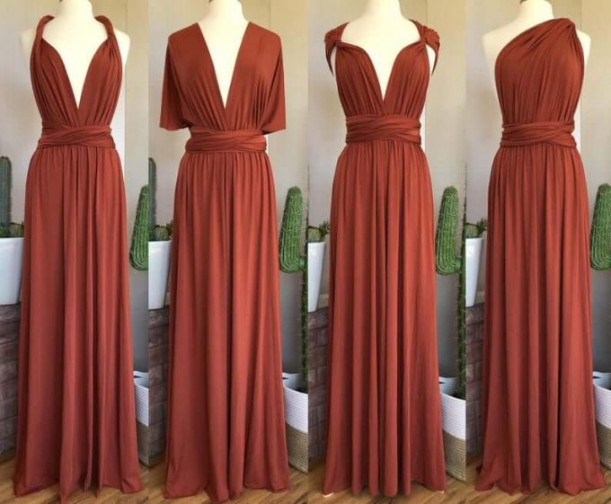 terracotta bridesmaid dress