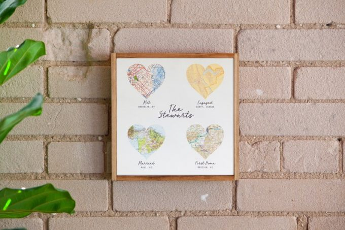 custom map wedding gift