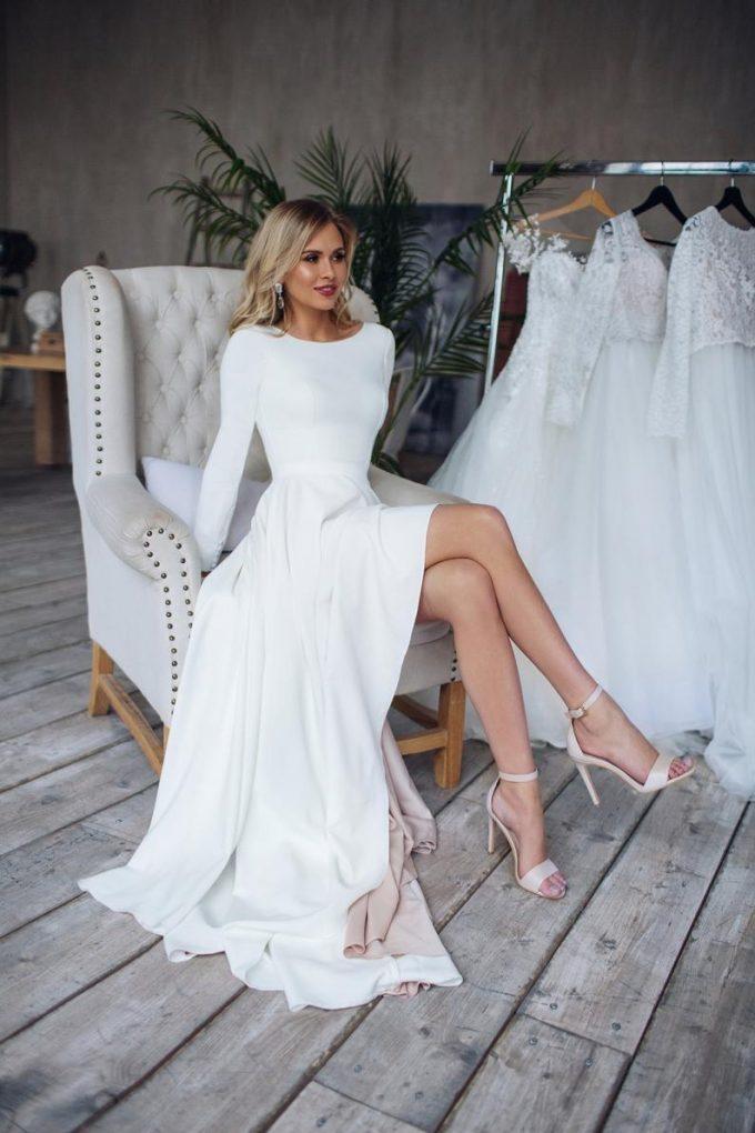 Long Sleeve High Neck Wedding Dress Ask Emmaline Bridalpulse