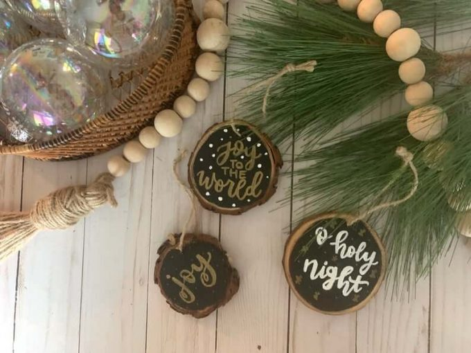 where to buy wood slice ornaments