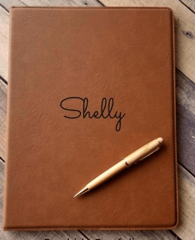 leather portfolio notebook