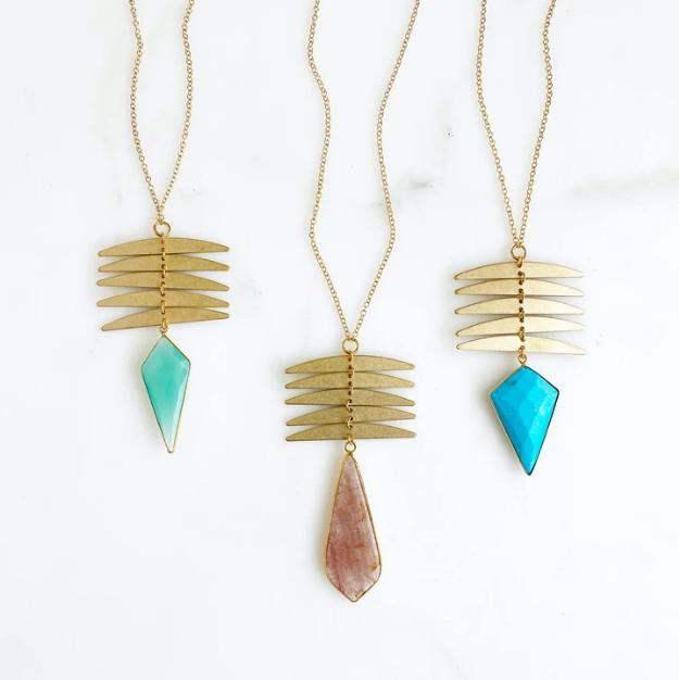 brass bridesmaid jewelry