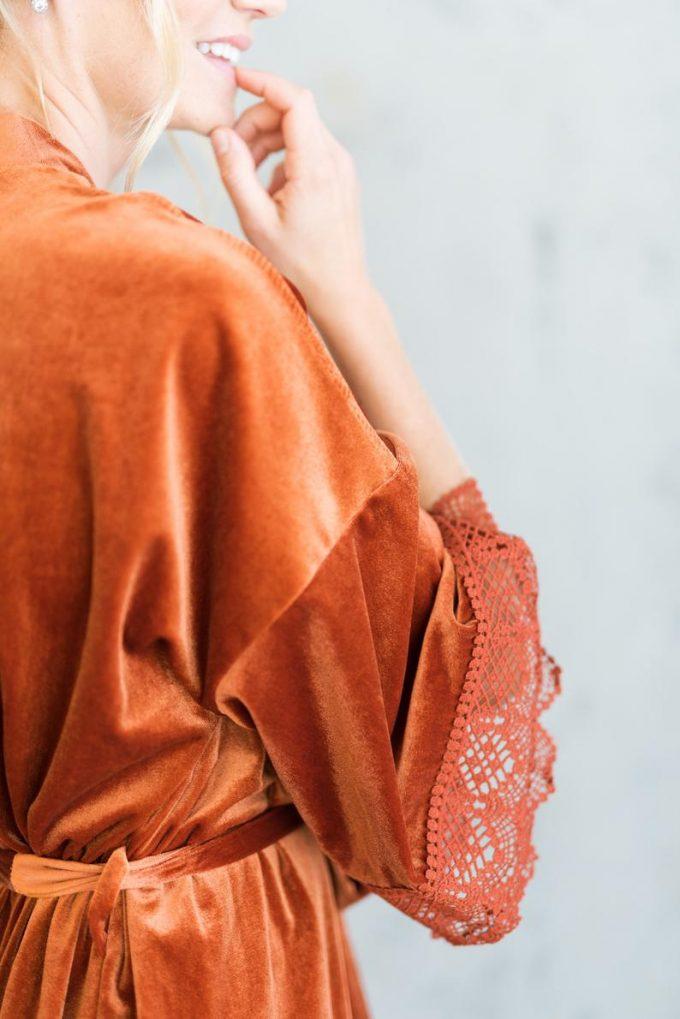 burnt orange bridesmaid robes