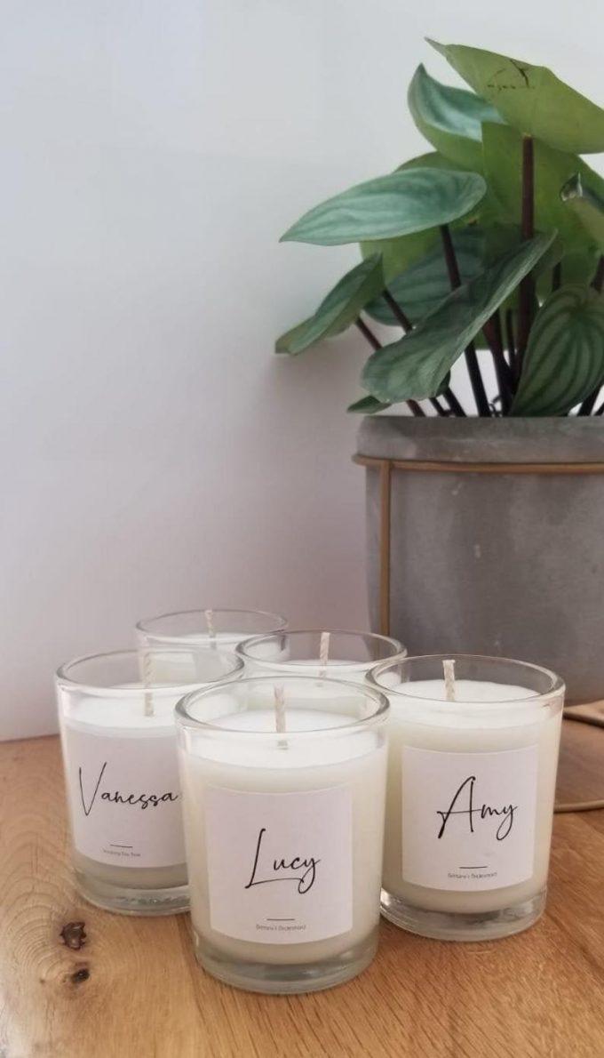 bridesmaid proposal candles