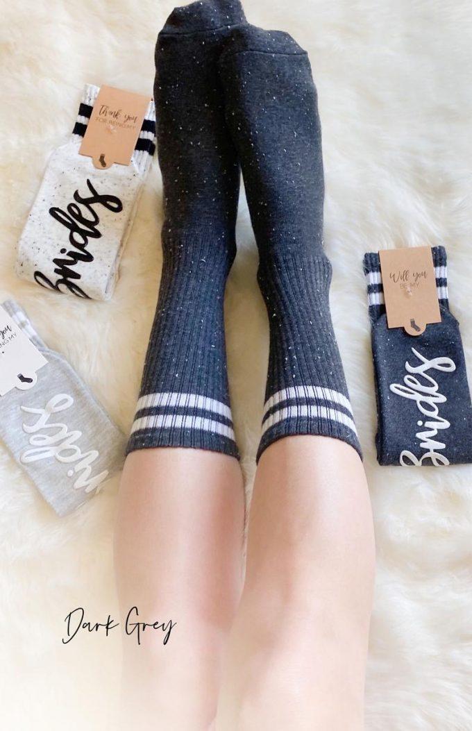 bridal party socks