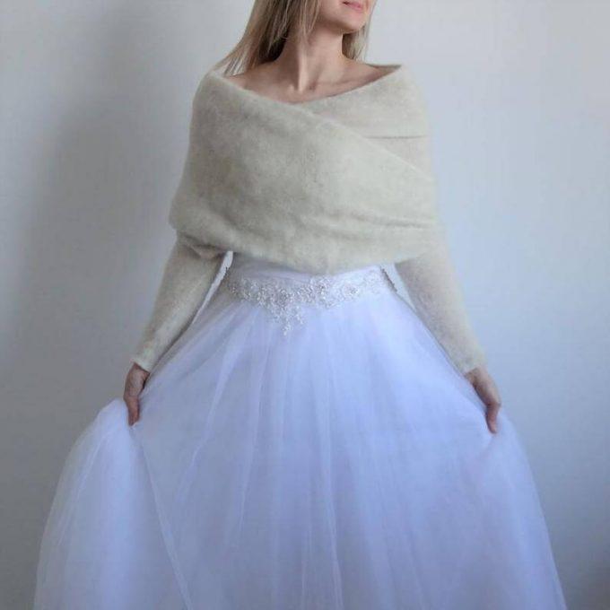 winter bridal bolero