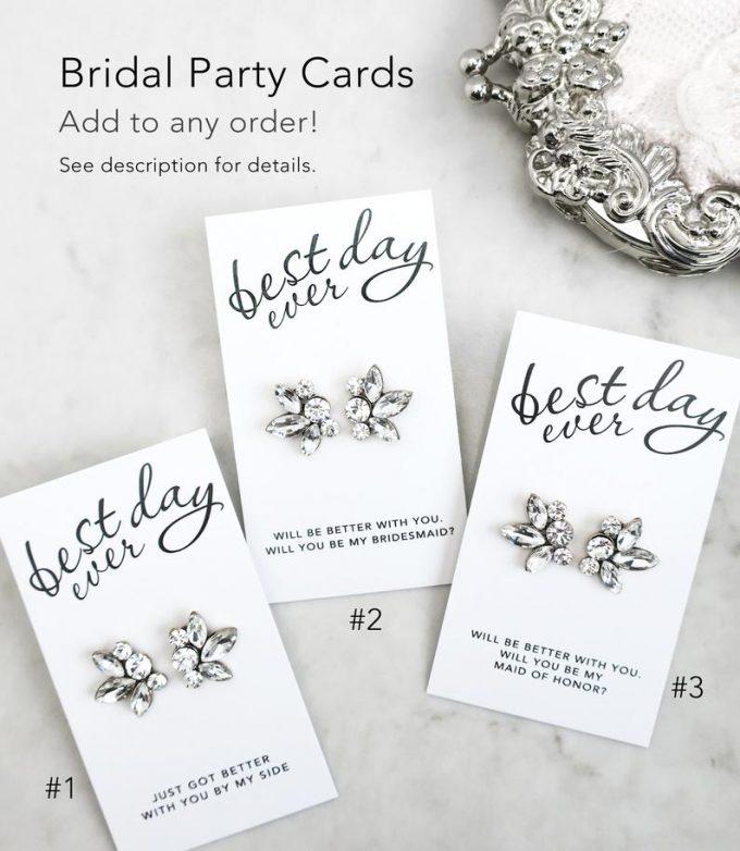 sparkly bridesmaid earrings