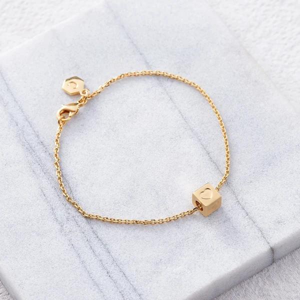 block letter bracelet