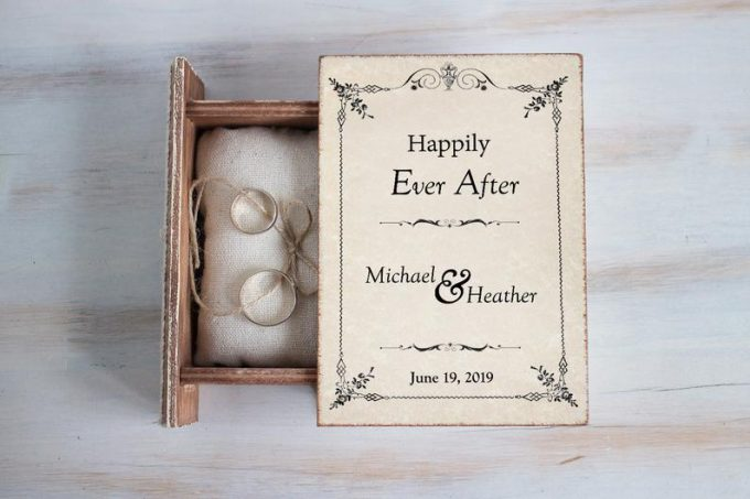book wedding ring box