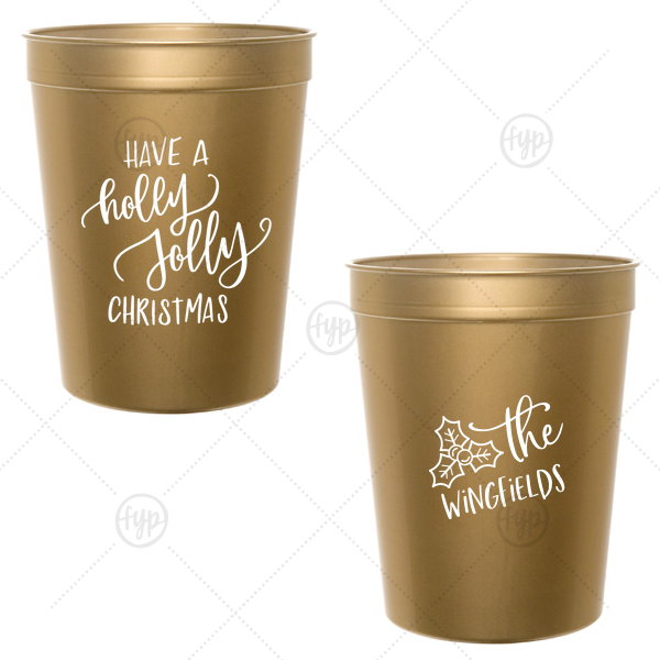 custom christmas party cups