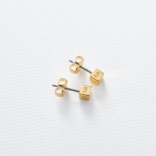 block letter jewelry stud earrings in blocks
