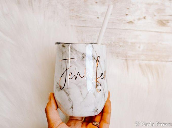 bridesmaid wine cup