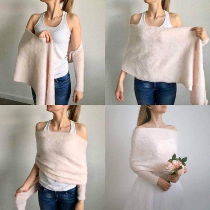 winter bridal sweater