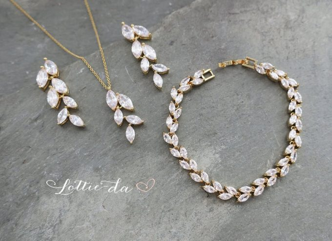 bridal crystal jewelry set
