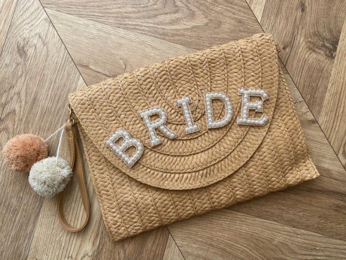 bride straw purse