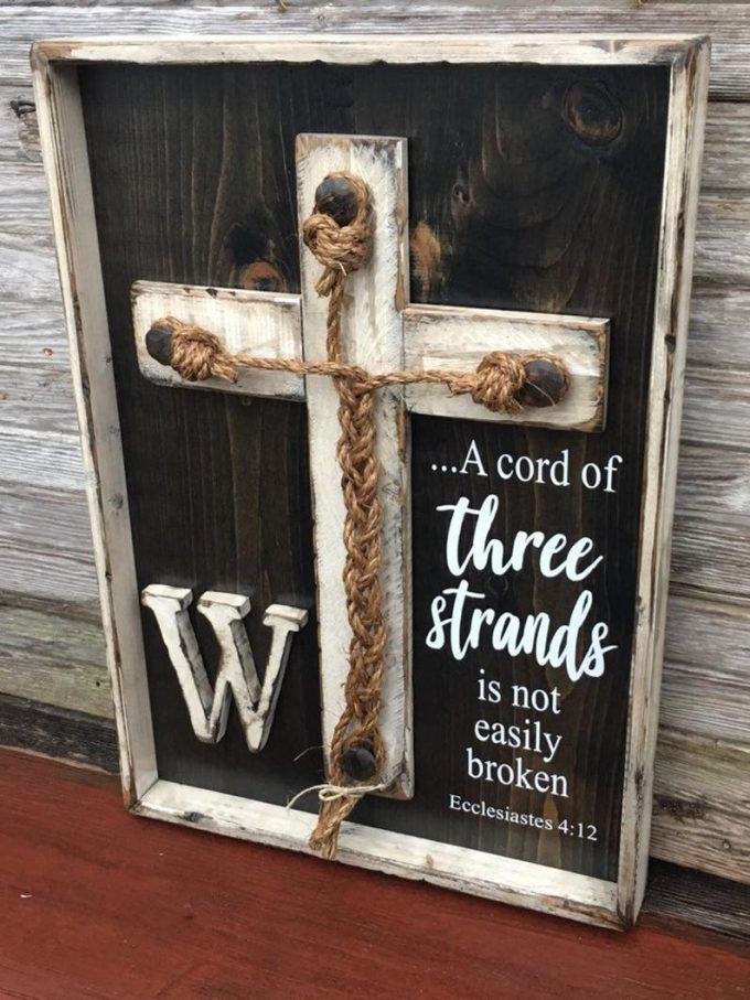 wedding braid cross