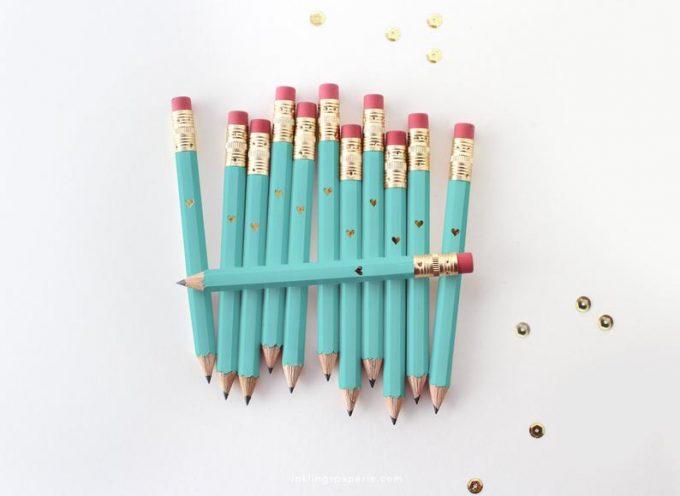 mini pencils for wedding