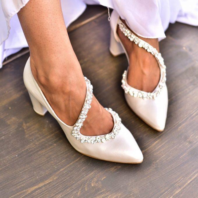 best wedding block heels