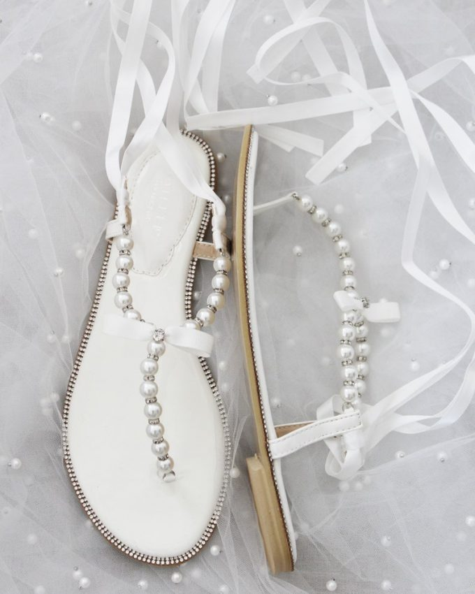 pearl bridal sandals