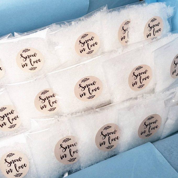 snow wedding confetti